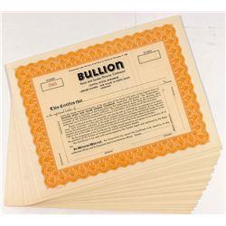 Bullion Gold & Silver Stock Certficates (24)