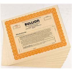 Bullion Gold & Silver Stock Certficates (24)