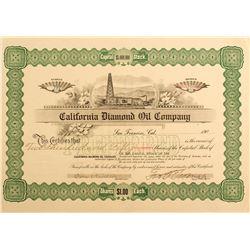 California Diamond Oil Company Stock Certificate