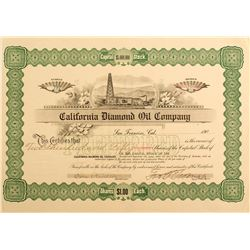 California Diamond Oil Company Stock Certificate