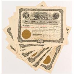 Jack Boy Mining Co. Stock Certificates (8)