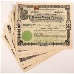 Karma Mining Company Stock Certificates (13)