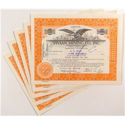 Vivian Mining Co. Inc Certificates