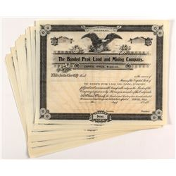 The Banded Peak Land and Mining Company Stock Certificates (22)