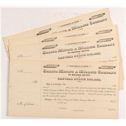 Salina Mining & Milling Stock Certificates (26)