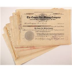 Empire Lee Mining Company Stock Certificates (17)