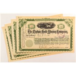 Orphan Gold Mining Company Stock Certificates (4)