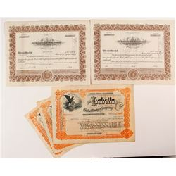 5 Cripple Creek, Colorado Mining Stock Certificates