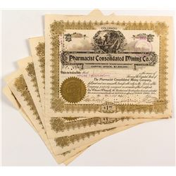 Pharmacist Consolidated Mining Co. Stock Certificates (5)