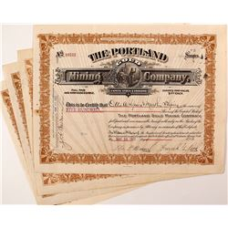 Portland Gold Mining Company Stock Certificates