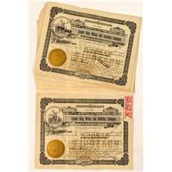 15 Copper King Mining and Smelting Company Stock Certificates