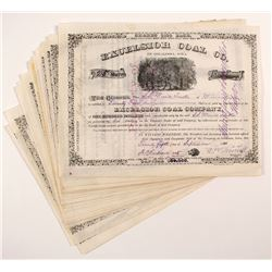 Excelsior Coal Co. Stock Certificates