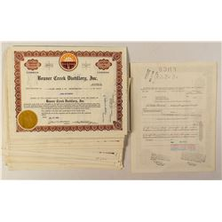 66 Beaver Creek Distillery Stock Certificates