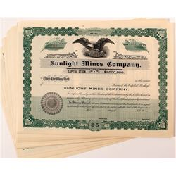 Sunlight Mines Company Stock Certificates (28)