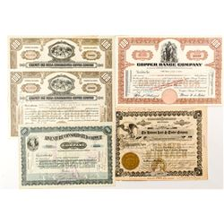 Michigan Mining Stock Certificates