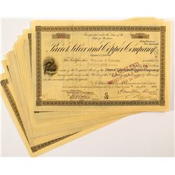 Parrot Silver and Copper Company Stock Certificates (16)