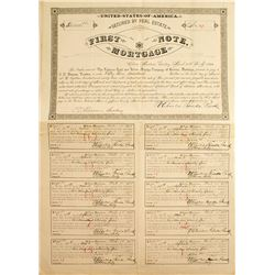 Frohner Gold and Silver Mining Company First Note Mortgage Certificate