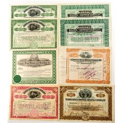 Montana and Idaho Mining Certificates