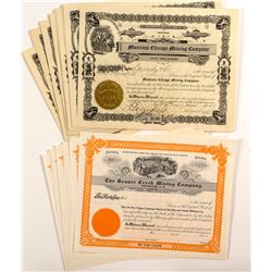 Montana Chicago Mining Co. and Beaver Creek Mining Co. Stock Certificates (27)