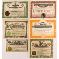 6 Different Bullfrog Mining Stock Certificates