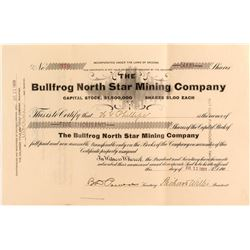 Bullfrog North Star Mining Company Stock Certificate