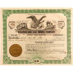 Bullfrog-Red Oak Mining Company Stock Certificate