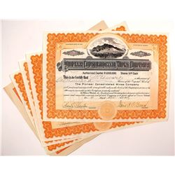 Pioneer Consolidated Mines Company Stock Certificates (4)