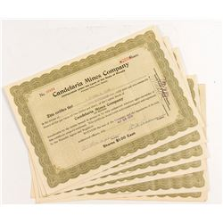 Candelaria Mines Company Stock Certificates (7)