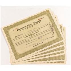 Candelaria Mines Company Stock Certificates (7)