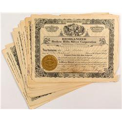 Reorganized Broken Hills Silver Corporation Certificates (10)