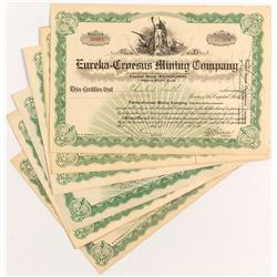 Eureka-Croesus Mining Company Stock Certificates (10)