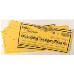 Group of 42 Eureka Tunnel Consolidated Mining Co. Stock Certificates