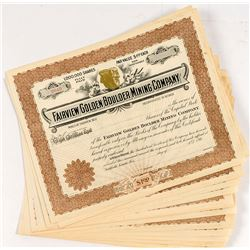 Fairview Golden Boulder Mining Stock Certificates (23)