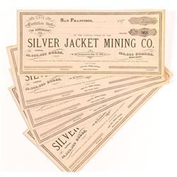 Silver Jacket Mining Stock Certificates (5)