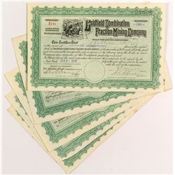 Goldfield Combination Fraction Mining Stock Certificates (5)