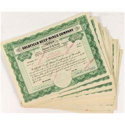 Goldfield Deep Mines Stock Certificates (29)