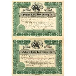 Goldfield Lucky Boys Mining Co. Stock Certificates (2)