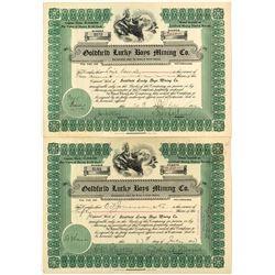 Goldfield Lucky Boys Mining Co. Stock Certificates (2)