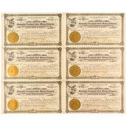 Manhattan Treadwell Gold Mining Stock Certificates (6)