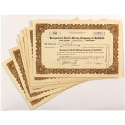 Reorganized Booth Mining Company of Goldfield Stock Certificates (12)