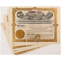 The Nevada National Mining Company Stock Certificates (8)