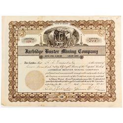 Jarbidge Buster Mining Co. Stock Certificate