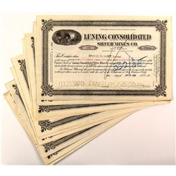 Luning Consolidated Silver Mines Co. Stock Certificates (23)