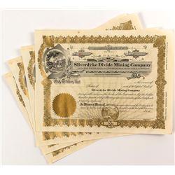 Silverdyke Divide Mining Company Stock Certificates (4)