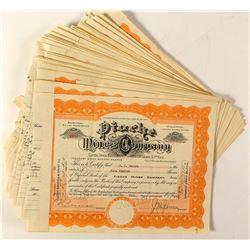 35 Pioche Mines Company Stock Certificates