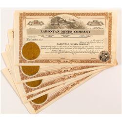 Lahontan Mines Company Stock Certificates (5)