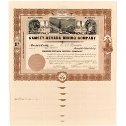 8 Ramsey-Nevada Mining Company Certificates