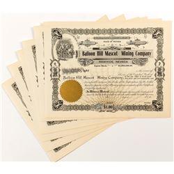Balloon Hill Mascot Mining Company Stock Certificates (5)