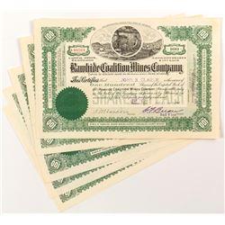 Rawhide Coalition Mines Company Stock Certificates (4)