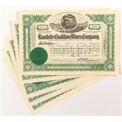 Rawhide Coalition Mines Company Stock Certificates (4)